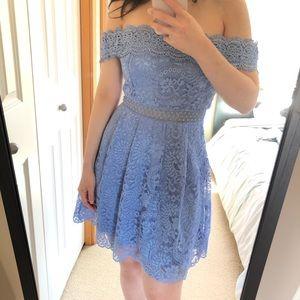 Francesca's Addie Crochet Lace A-line dress size S